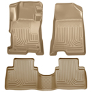 4 Door - Front & 2nd Seat Floor Liners - Weatherbeater Series - Tan