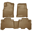 Standard Cargo Area (No 3rd seat or Sliding Cargo Deck) - Sliding Rear Cargo Deck - 3rd row of seats - Front & 2nd Seat Floor Liners - Weatherbeater Series - Tan