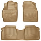 Front & 2nd Seat Floor Liners - Weatherbeater Series - Tan