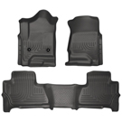 Suburban - Front & 2nd Seat Floor Liners - Weatherbeater Series - Black