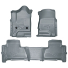 Suburban - Front & 2nd Seat Floor Liners - Weatherbeater Series - Grey