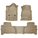 Suburban - Front & 2nd Seat Floor Liners - Weatherbeater Series - Tan