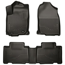 Automatic - Front & 2nd Seat Floor Liners - Weatherbeater Series - Black