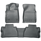 Extended Crew Cab Pickup - Front & 2nd Seat Floor Liners - Weatherbeater Series - Grey