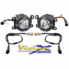 Vision X XIL-OE0709JKV2OPR - Fog Light Upgrade Kit With Optimus Prime Round Lights - 10 Degree Beam