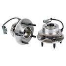 Pair of Front Hubs - 2WD Models with ABS