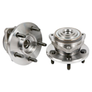 Pair of Front Hubs - Models without ABS
