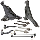 Models with 4 Bolt Mounting - Front Lower Control Arms with Inner and Outer Tie Rods