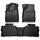 Crew Cab Pickup - Front & 2nd Seat Floor Liners - Weatherbeater Series - Black