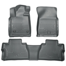 Crew Cab Pickup - Front & 2nd Seat Floor Liners - Weatherbeater Series - Grey