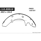 Centric Parts 111.05010 Brake Shoe Set 1