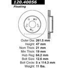 Centric Parts 120.40056 Brake Rotor 5