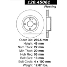 Centric Parts 120.45061 Brake Rotor 5