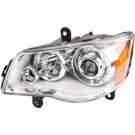Left Headlight Assembly - E Marked Headlights with HID