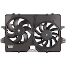 Dual Fan Assembly - 2.5L Models with Air Conditioning