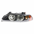 Left Driver Side - Halogen with White Turn Signal and Yellow Reflector - i Models