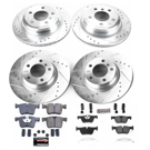 2016 BMW 330e Performance Disc Brake Pad and Rotor Kit 1