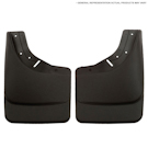 1500 - with OE Fender Flares - Front Mud Guards - Custom Mud Guards - Black