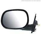 BuyAutoParts 14-11160ME Side View Mirror 1