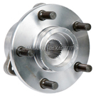 Front Hub - 4WD DANA 30 with 2 Piece Hub and Rotor