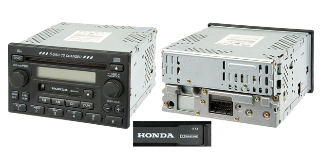 2001 Honda Accord Radio Code >> 1994 2012 Honda Accord Radios Or Cd Players Buy Auto Parts