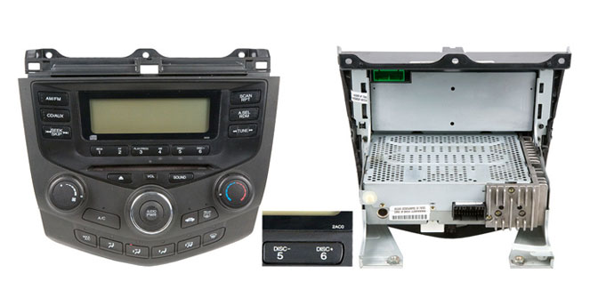2004-2007 Honda Accord Single Disc Radio with Face Code 2AC0 2AC1 or 2AC2.