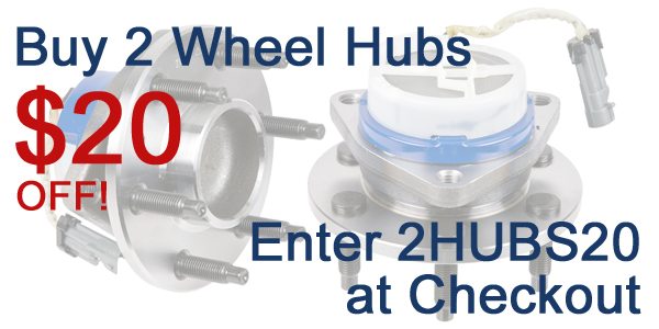 Wheel Hub Coupon 2hubs20