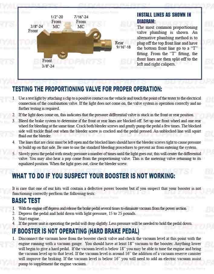 proportioning valve installation instructions