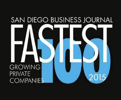 2015 San Diego Business Journal Fastest Growing Companies