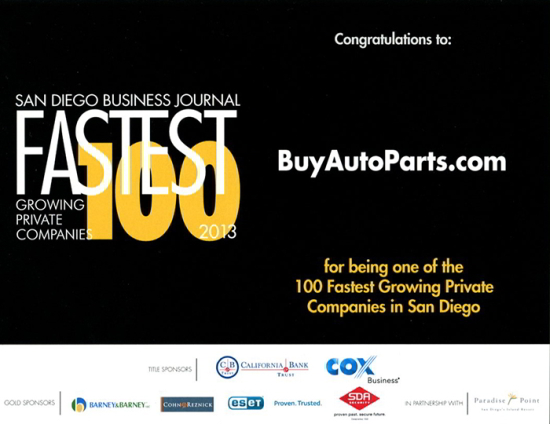 San Diego Business Journal Fastest Growing Companies