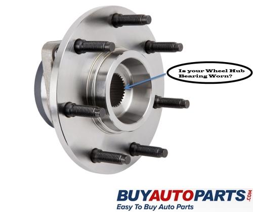 Worn Wheel Hub Assembly