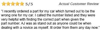 Helpful customer service staff