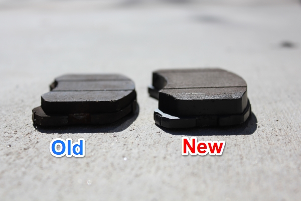 Old Lancer Brake Pads vs New