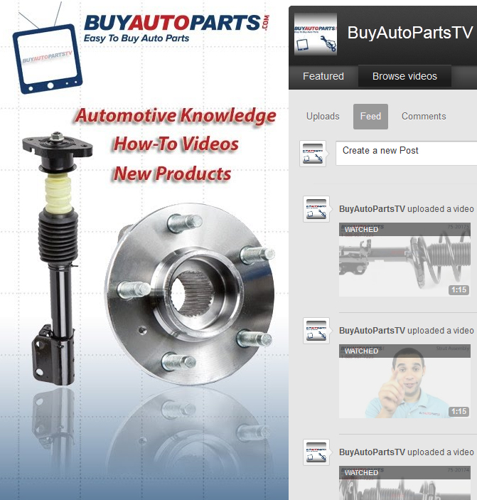 BuyAutoParts Youtube