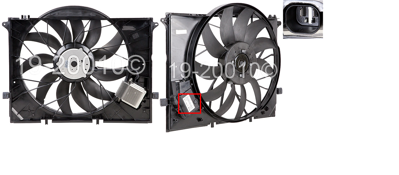 Part Numbers on cooling fan