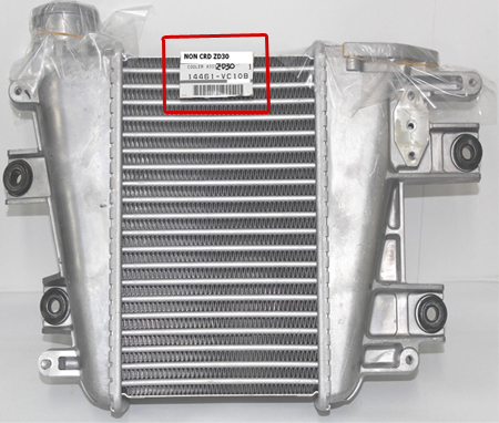 Part Numbers on Intercooler