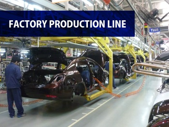 Automobile factory production line