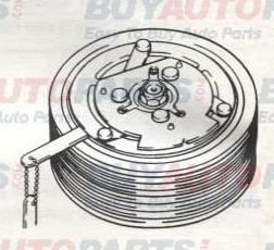 Sanden AC Compressor Service Operations Clutch and Shaft Seal