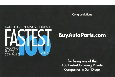2014 San Diego Business Journal Fastest Growing Companies