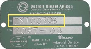 Detroit Diesel Tag