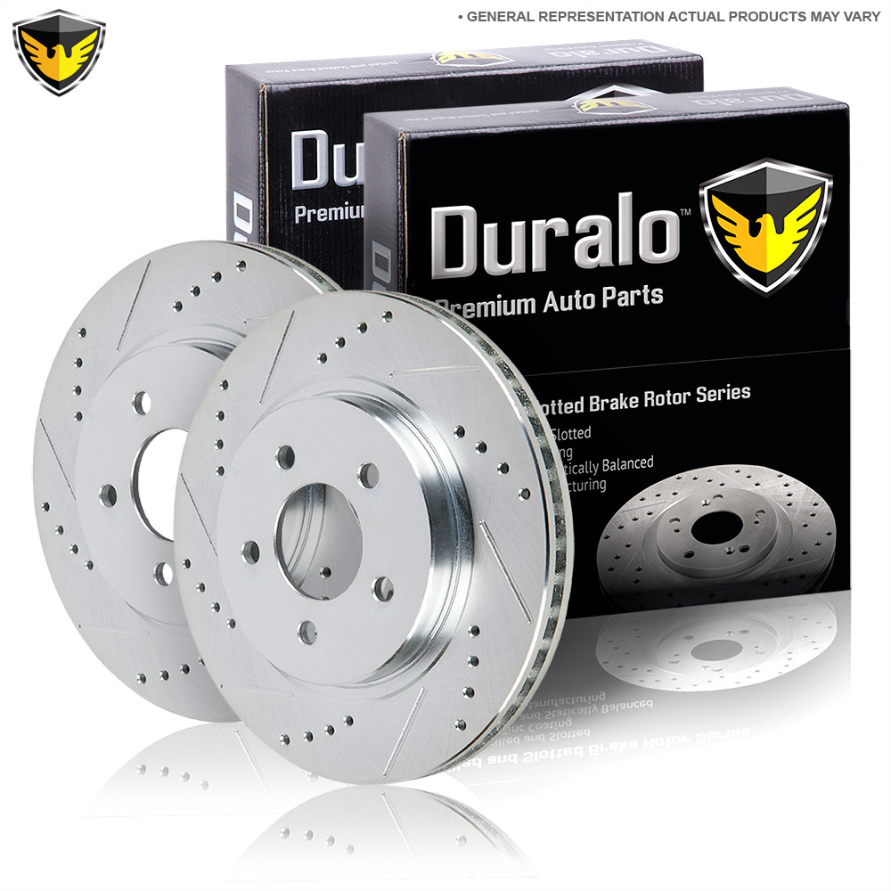 New 2008 Jeep Grand Cherokee Brake Disc Rotor Set - Front