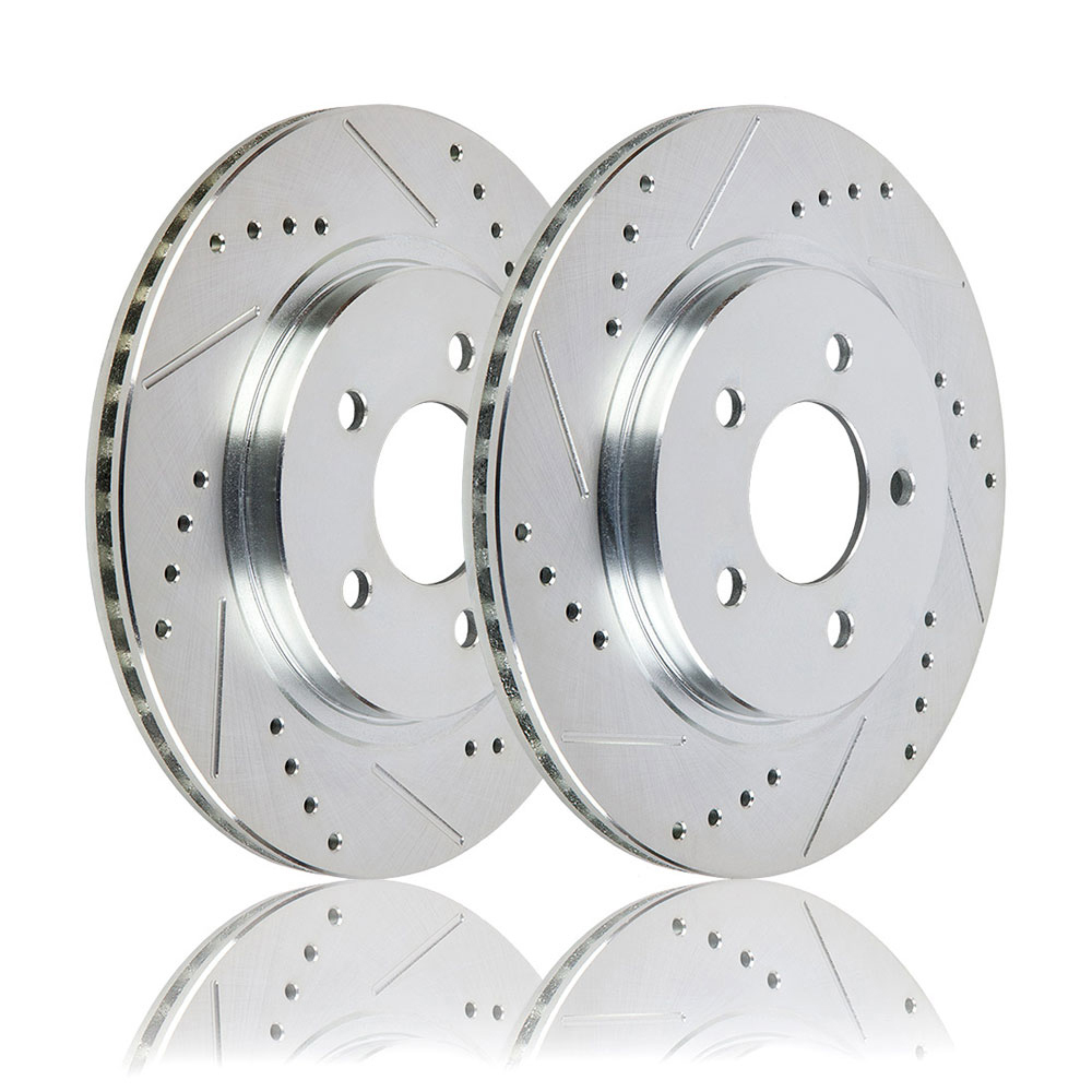2004 Dodge Neon Premium Duralo Drilled and Slotted Rotors - Front