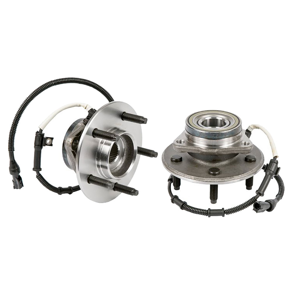 New 2004 Ford F Series Trucks Wheel Hub Assembly Kit - Front Pair Pair of Front Hubs- F150 4WD Supercharged 4 Wheel ABS - 5 Stud Models
